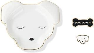Fringe Studio Dog Trinket Tray and Organizer for Rings Earrings Bracelets Necklaces Pins Plus Bonus Matching Enamel Dog Lover Pins