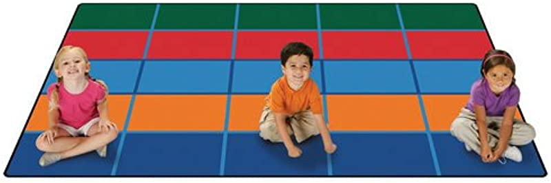 Carpets For Kids 72 91 Color Blocks Value Seating Kids Rug Size 6 X 9 Multicolored