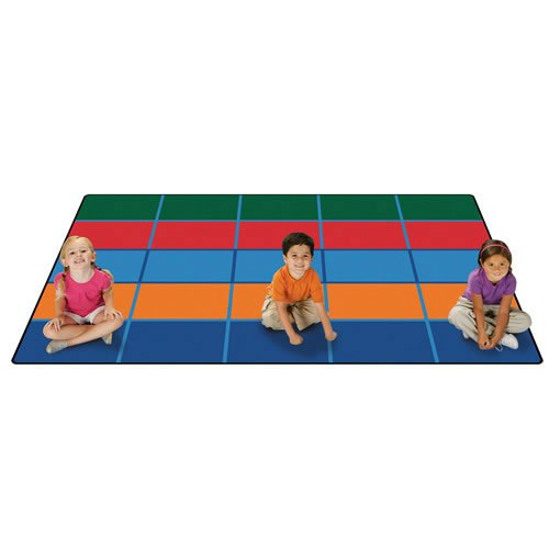 Carpets for Kids Color Blocks Value Seating Kids Rug Size: 6' x 9', Multicolored