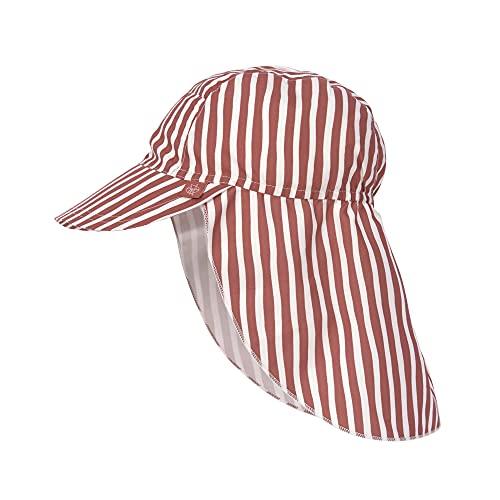 LÄSSIG Splash & Fun Sonnenhut mit UV- und Nackenschutz - Stripes red, 19-36 Monate, Gr. 50/51