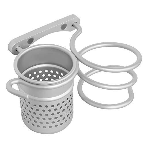 Sanlinkee Soportes Para Secadores de Pelo Titular de Secador de Pelo Soporte para Secador de Pelo Montado en la Pared Para Baño, Argénteo