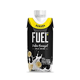 FUEL10K 330ml Banana Breakfast Milk Drink – Pack of 8 – High Protein Milkshake