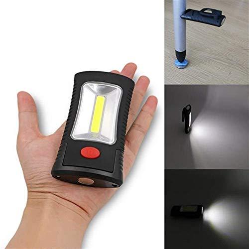 GJNVBDZSF Außenzelt, Campinglicht Batteriebetriebene COB LED Campingzeltlampe Taschenlampe Magnetischer Arbeitsklapphaken