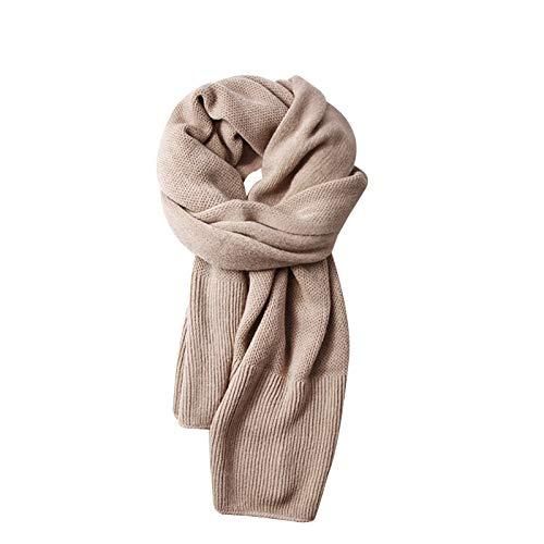 WuShu Bufandas Bufanda for Mujeres y Hombres, Suave y cálida en Invierno 70.9 * 17.7En Bufanda Envuelta Chal (Color : Khaki)
