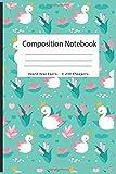 Composition Notebook: Pretty Wide Ruled Paper Notebook Journal   Cute Duck  Workbook