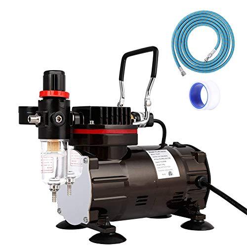 エアーコンプレッサー オイルレス エアブラシ用 コンプレッサー ホビー用コンプレッサー 静音