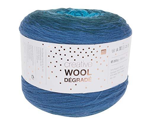 Rico Wolle Creativ Wool Dégradé 200g 4-fädig Aqua