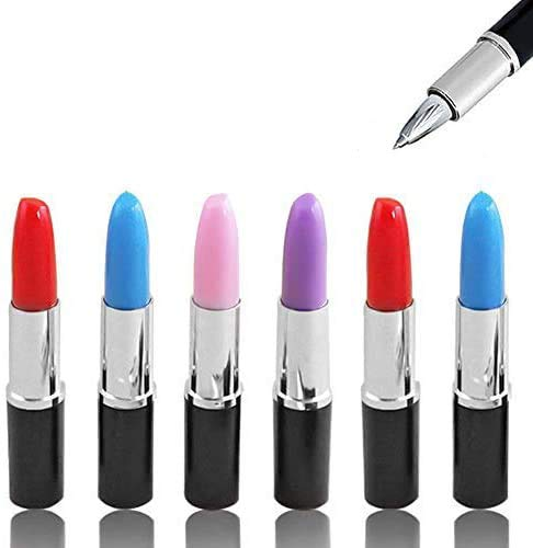 Lipstick Shape Pen, 24 PCS Creative Ballpoint Writing Pens Multi-Color Lipstick Cute Ball Pen Novelty Office Stationery Students Children Gift by DomeStar