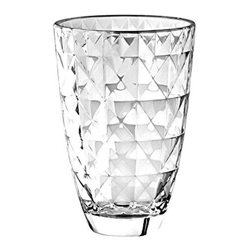 """Barski European Glass Designed Vase, 9.5"""" H, Made in Europe"""
