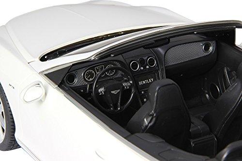 RC Auto kaufen Spielzeug Bild 5: RC Bentley Continental GT Speed Convertible (Cabrio) - schwarz oder weiß - Maßstab: 1:12 - LED-Licht - ferngesteuert, inkl. allen Batterien - RTR - LIZENZ-NACHBAU (Weiß 40MHz)*
