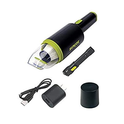 Sun Joe AJV1000 Cordless Handheld Home/Auto/RV Vacuum w/Quick Clear HEPA Filter, Built-in Lithium-iON Battery