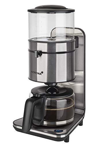 Korona electric 10295 Kaffeemaschine | Edelstahl | Schwallbrühverfahren | 1,25 Liter Fassungsvermögen für 10 Tassen