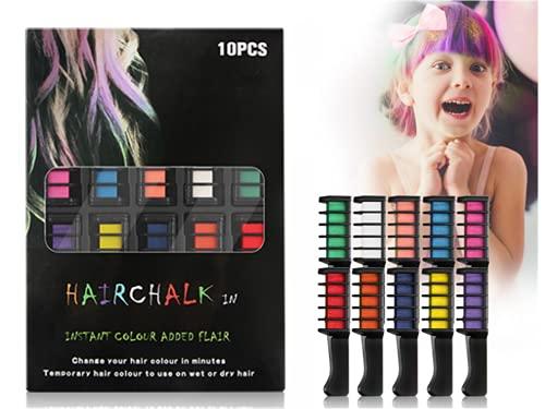 DAIRF 10 Farben Kamm, Temporär Haarfarbe Bild