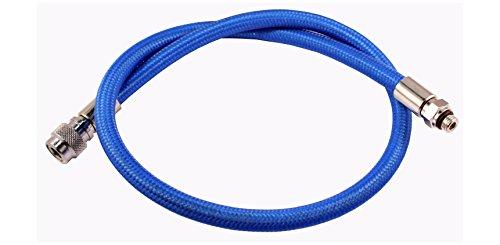 METALSUB Bcd–Manguera de inflador Azul Flex Trenzado -