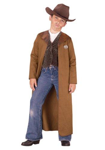 Childs Boy's Wild West Cowboy Sheriff Gunslinger Outlaw Costume Medium 8-10