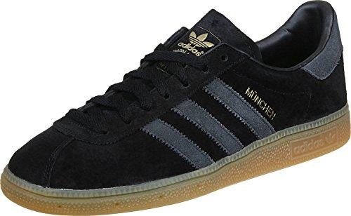 adidas Originals Adidas Munchen Formadores oscuro Gum 5 Uk para Hombre 38 de EE.UU. Negro, Schwarz Core Negro Gris oscuro Gum