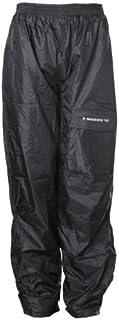 Sceed Pantalones para Lluvia con Forro Térmico, Negro, M