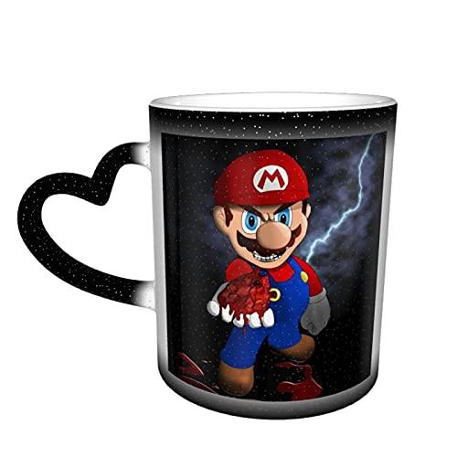 Taza de té de cerámica con diseño de héroes de Mario para videojuegos