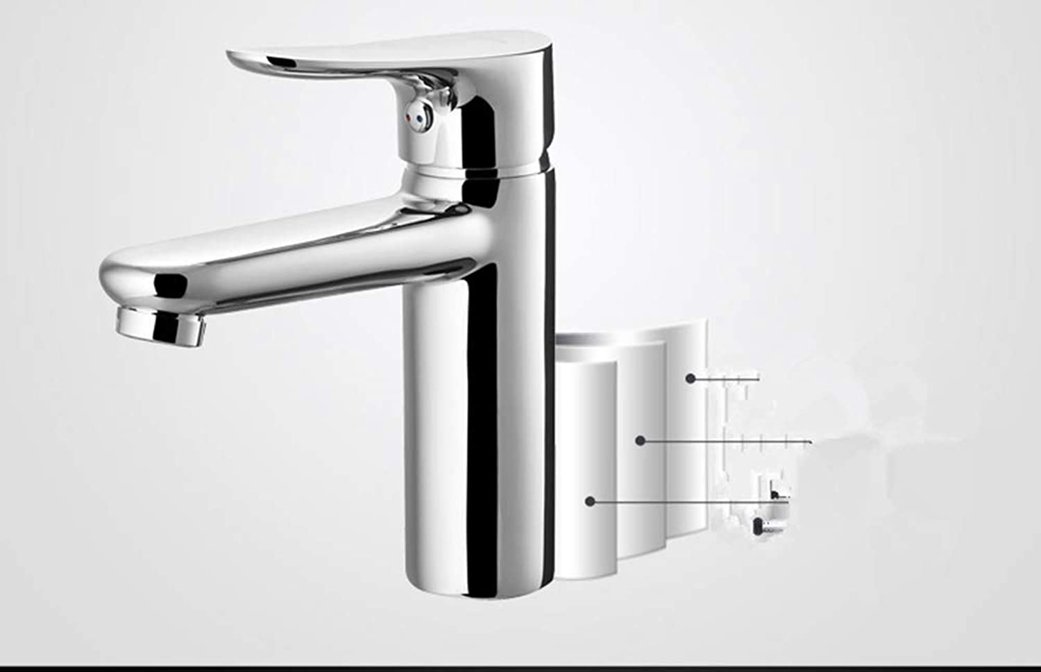 Zhcmy?Faucet Single Hole Wash Basin On The Bathroom Bathroom Washbasin Faucet