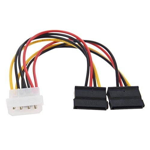SNOWINSPRING Cable de Alimentacion Divisor SATA 2-Puerto (2 x 12-Pin)