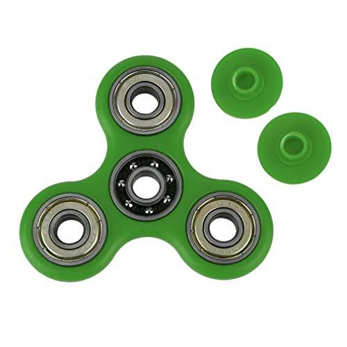 HermosaUKnight Triángulo Hand Spinner Toys Finger Spinner Ansiedad Alivio del estrés Juguetes de Enfoque (Verde)