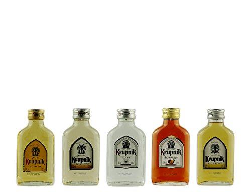 Geschenkset 5 x Mini Krupnik | Geschenkidee | Polnische Wodkas | 5 x 0,1 Liter