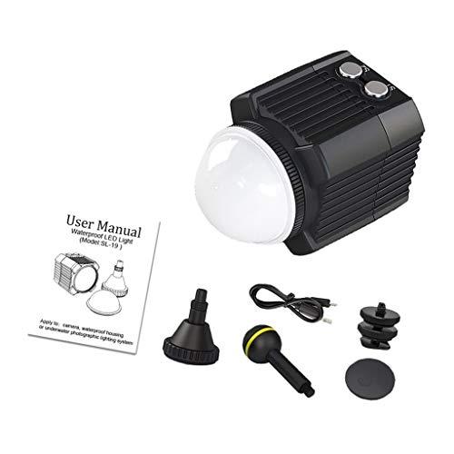 P Prettyia Wiederaufladbare Wasserdichtes Hohes Leistungs Tauch Licht, LED Video Licht