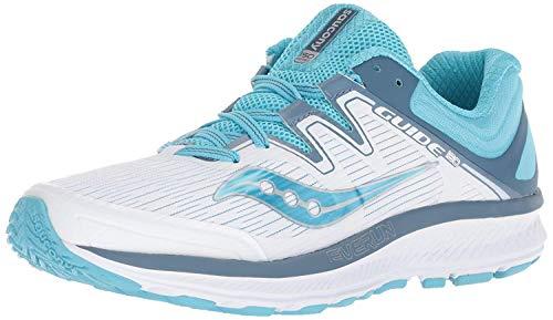 Saucony Women's Guide ISO Sneaker, White/Blue, 095 M US