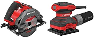 CRAFTSMAN 7-1/4-Inch Circular Saw, 15-Amp with Sander, 1/4-Inch Sheet (CMES510 & CMEW230)