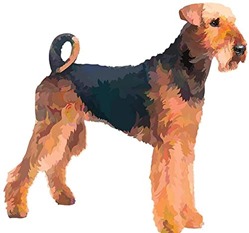 DYYjh DIY Diamond Painting Airedale Terrier Dog Full Drill Crystal Drawing Kit Bedside Arts Embroidery Art Crafts for Home Decoration 40x50cm
