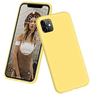 """DTTO iPhone 11 Case, [Romance Series] Full Covered Shockproof Silicone Cover [Enhanced Camera and Screen Protection] with Honeycomb Grid Pattern Cushion for Apple iPhone 11 6.1"""" 2019, Yellow"""
