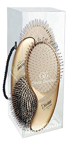 Olivia Garden Divine Revolutionary Ergonomic Design Hair Brush kit contains DV-1, DV-2, DV-3 - DVBOX01 (3-Piece kit)
