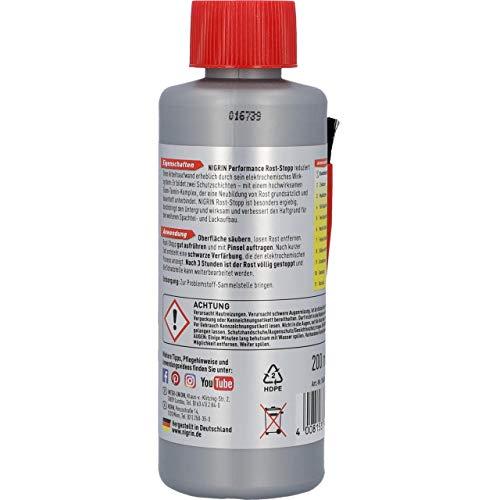 NIGRIN 74049 Rost-Stopp, 200 ml, Korrosionsschutz auf Tanin-Basis, langanhaltender Rostschutz