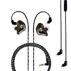 in budget affordable BASN Professional in-ear monitor headphones for singers, drummers and musicians with MMCX sockets …