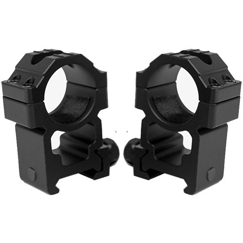 M1SURPLUS Trinity Heavy Duty Tall Height Aluminum Matte Black Scope Rings Fits Weaver Picatinny Rails SR22 Mossberg 715t MVP Predator Hi-Point Carbine Kel-Tec SU22 M&P Remington 770 Rifles