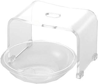 アクリル バスチェア&ボウルセット 風呂椅子 洗面器 セット Sサイズ 高さ20.5cm クリア