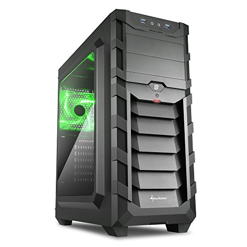 Sharkoon Skiller SGC1 Window ATX Gehäuse Grün