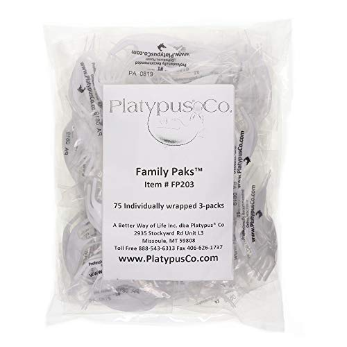 Platypus Orthodontic Flossers for Braces ? Structure Fits Under Arch Wire, Floss Entire Mouth in Less Than 2 Minutes, Increases Flossing Compliance Over 84%- 75 Individually Wrapped 3pck Flossers