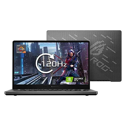 ASUS Zephyrus G14 GA401IV 14' Full HD 120Hz Gaming Laptop (AMD Ryzen 7 4800HS, Nvidia GeForce RTX 2060 6GB, 16GB RAM, 512GB M.2 NVMe PCIe 3.0 SSD, Windows 10), Grey with LED