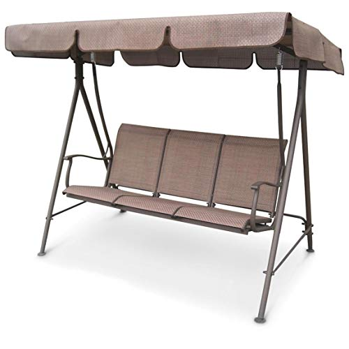 CASTLECREEK Canopied 3-Person Porch Swing