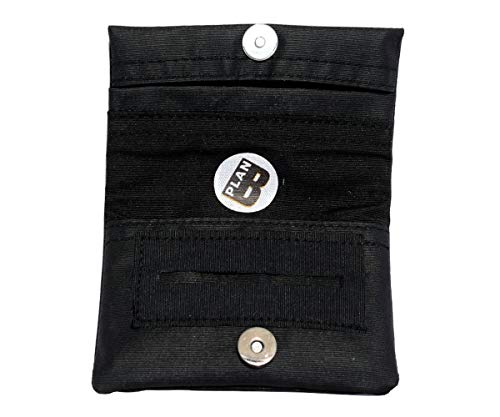Plan B Tabakbeutel TWODAYS Basis (11,5 x 7,5 cm) mit Eva-Gummi Tasche Bis mit zu 15 Gramm Tabak Schwarz