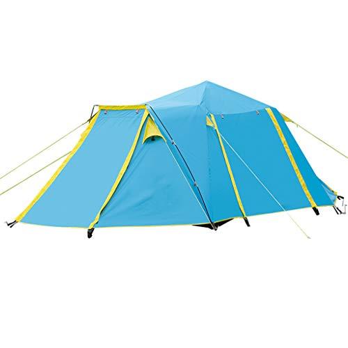 YYDE 4 Person Easy Pop Up Zelt - Tragbare Cabana Beach Tent - - Fenster und Türen auf beiden Seiten - Wasserdicht, UVschutzsun Shelter, 430 * 220 * 165cm,2