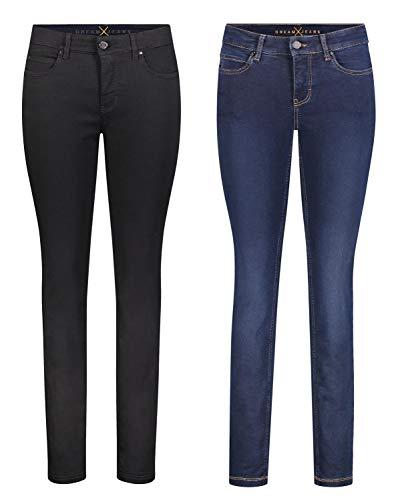 MAC Dream Skinny - 2er Pack Damen Jeans in Verschiedene Farbvarianten, Größe18:W32/L34, Farbe:D999+D826