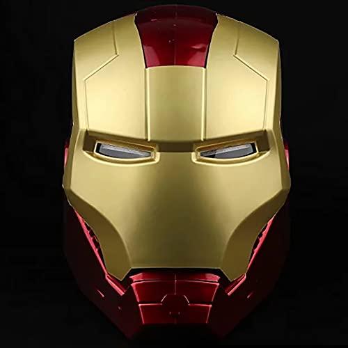 PRETAY Avengers Marvel-Casco Iron Man,Iron Man Casco Máscara Luminosa,Regalo de Juguete,Modelo de Anime,Adornos de Muebles,Ojos Pueden Brillar (Color : Red, Size : L(55CM))