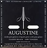 AUGUSTINE BLACK SET×1セット オーガスチンクラシックギター弦 ブラック