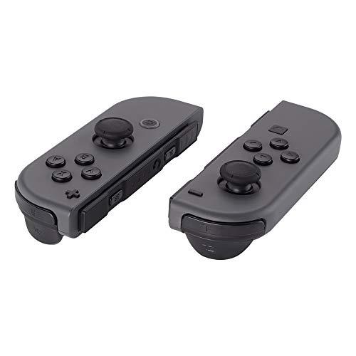 eXtremeRate Kit Pulsanti SR SL L R ZR ZL ABXY Tasti Direzionali Trigger Grilletto Pezzi di Ricambio per Nintendo Switch Joy-Con(Nero)con Cacciaviti-NON Inlcude JoyCon