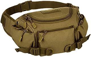 TOOGOO Men Waterproof Nylon Waist Fanny Pack Bag Hip Bum Belt Cross Body Messenger Shoulder Sports Purse Handbag ACU