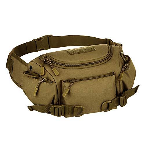 TOOGOO Bolso de Ri?Onera con Cintura de NylóN Impermeable para Hombres Bolso Deportivo Cruzado de Hombro de Mensajero de Ri?Onera de Cadera Bolso de Mano MarróN