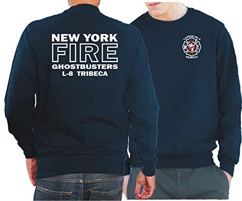 feuer1 Sweatshirt Navy, Ghostbusters NYC Ladder 8 Tribeca Manhattan