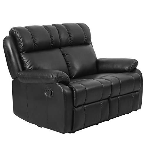 Recliner Sofa for Living Room loveseat Sofa Couch PU Leather Sofa Recliner Couch Manual Reclining Sofa for Home Furniture